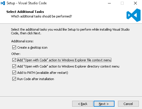VS Code Install - open with