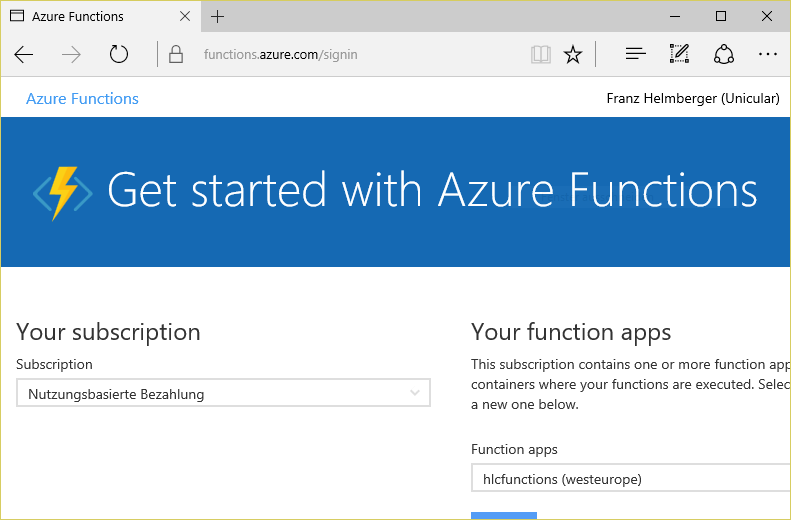 Get started with Azure Functions